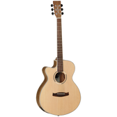 Tanglewood TDBTSFCEPWLH Discovery Exotic SFCE Pacific Walnut Left Hand