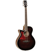 Tanglewood TW4WBLH Winterleaf Left Handed Super Folk C/E Whiskey Burst