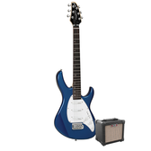 Tanglewood Baretta Blue Gloss Electric Guitar with Aroma 10W Black Amp (TE2BLBK-P)