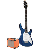 Tanglewood Baretta Blue Gloss Electric Guitar with Aroma 10W Orange Amp (TE2BLOR-P)