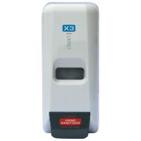 X3 Clean Cartridge Wall Dispenser, Manual, White w/empty refill cartidge