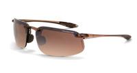 ES4 Safety Glasses - CF-211125 - HD brown flash mirror lens, crystal brown frame - $7.55