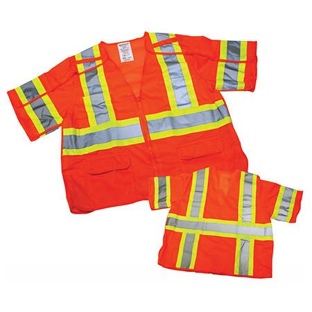 Ironwear Breakaway Safety Vest with Sleeves - Orange