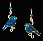 Indigo Bunting Earrings
