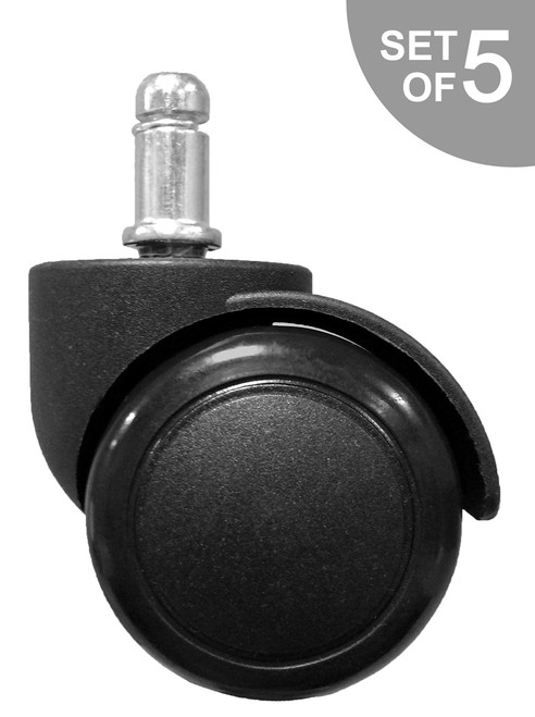 "2"" Hard Floor Office Chair Caster - Set of 5 - S2986"