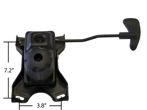 "Replacement Office Chair Swivel Tilt Mechanism - 3.8"" x 7.2"" Mounting Holes - S4264"