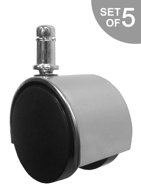Chrome Replacement Office Chair Caster Wheel - S3939