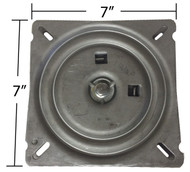 "Replacement Memory Spring Auto Return Bar Stool Swivel Plate - 7"" Flat - S4760"