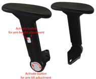 Height Adjustable Chair Armrest w/ Arm Pads & Fold-Away - Pair - FREE SHIPPING - S4761-K