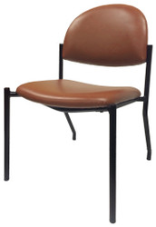 Terracotta Vinyl Upholstered Guest Side Chair - CLEARANCE - S4610-WS-OR