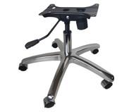 Chrome Chair Base Kit w/ Base, Casters, Gas Lift, & Tilt Mechanism
