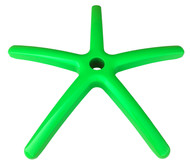 "Heavy Duty 28"" Bright Green Aluminum Replacement Office Chair Base - BRTGREEN"