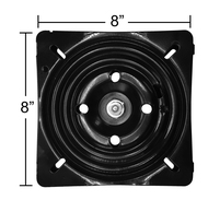 "Replacement Bar Stool Swivel Plate - 8"" Square - Flat Profile - S5597"