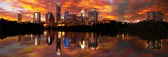 Sunset Over Austin 2011 Panoramic