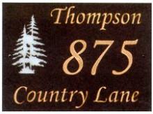 Personalized Pine Tree Slate