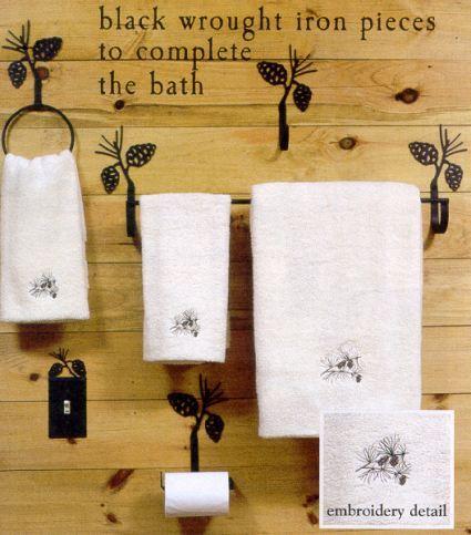 Black Wrought Iron Bathroom Accessories Adirondack Country Store