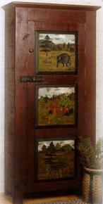 Carved Woodsman Cabinet