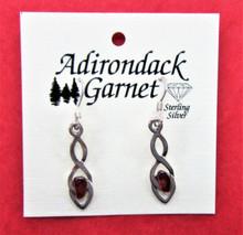 Garnet Pendant Earrings