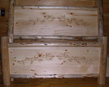 Carved Pine Bough Bed Queen Size