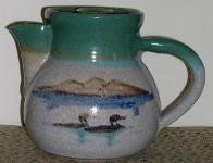 Hand Painted Loon Teapot
