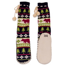 Bear Fair Isle Mukluk Slippers