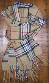Cashmere Burberry Plaid Scarf