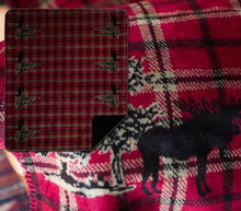 Moose Plaid Border/Black Throw