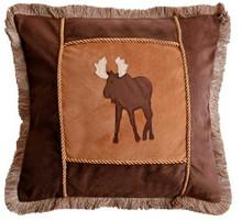 Moose Plaid Accent Pillows