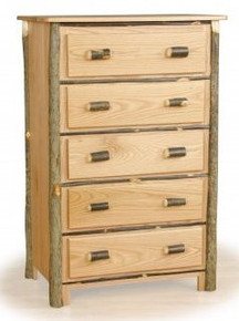 Hickory and Oak 5 drawer chest