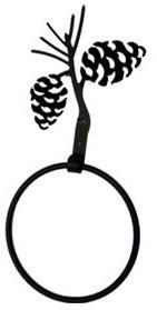 Black Wrought iron towel ring