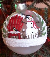 Hand Painted Ornament_Snowman, Frosted