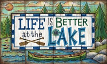 """Life is Better at the Lake"" floor mat"