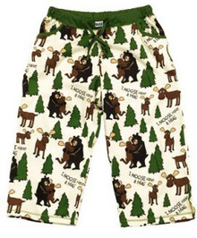 """I Moose Have a Hug"" pajama capri pants"