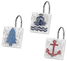 Lake Words Shower Curtain Hooks