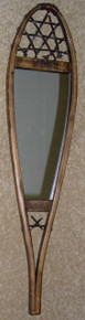 Antique Snowshoe Mirror