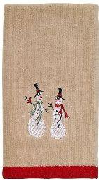 Snowmen Fingertip Towel