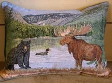Moose, Bear, Loon Balsam pillow