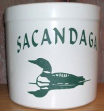 Personalized Loon Crock