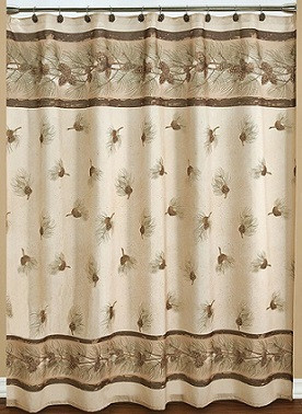 Pinehaven Fabric Shower Curtain Image 1