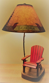 Personalized Adirondack Chair Lamp