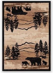 Mountain Shadow Bear Rug