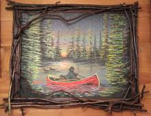 Rustic Canoe Painting