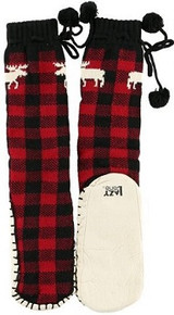 Moose Plaid Mukluks