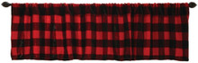 Buffalo Plaid Plush Valance