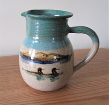 Hand Painted Loon Pitcher