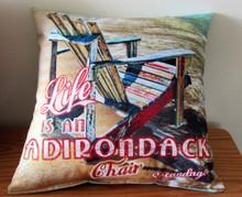 Sacandaga Adirondack Chair Pillow