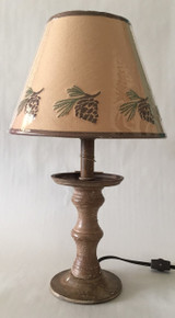 Pinecone  Candlestick Lamp - 17""