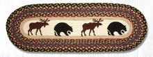 Bear Moose Braided Table Runner