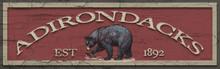 Adirondacks Wood Sign