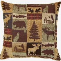 Fairbanks Evergreen Tapestry Pillow